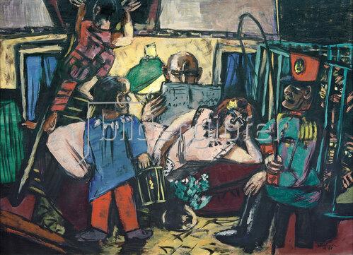 Max Beckmann: Im Artistenwagen, 1940