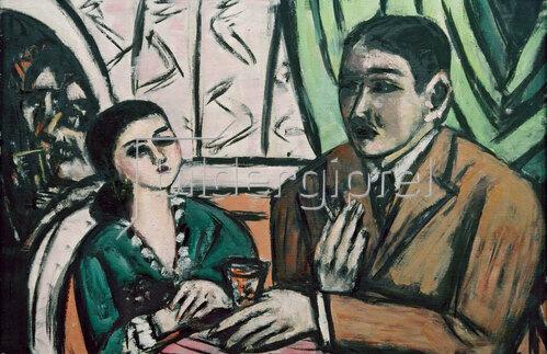 Max Beckmann: Künstlercafé, 1944