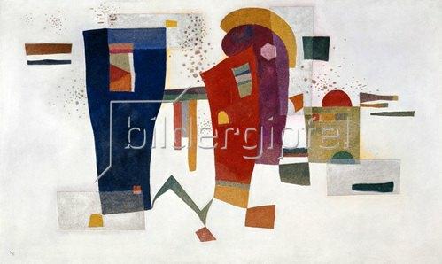 Wassily Kandinsky: Kandinsky, Wassily.1866?1944.Kontrast mit Begleitung, 1935.