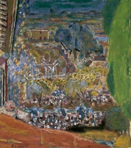 Pierre Bonnard: Landschaft mit roten Dächern