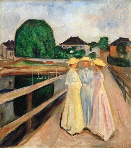 Edvard Munch: Mädchen auf dem Pier