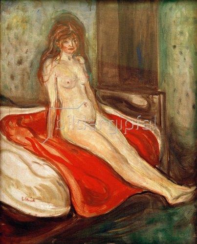 Edvard Munch: Mädchen auf rotem Tuch
