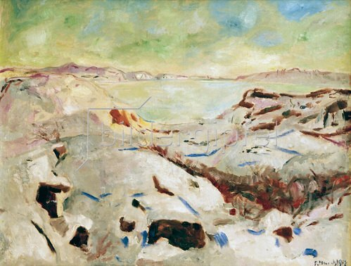 Edvard Munch: Winter in Kragerö (Winter an der Küste)