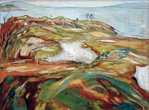 Edvard Munch: Große Küstenlandschaft