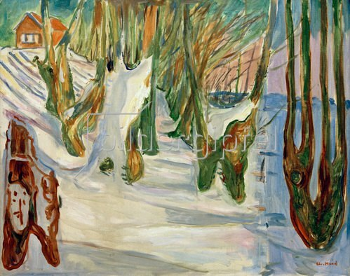 Edvard Munch: Alte Bäume (Winter, Ekely) um 1923