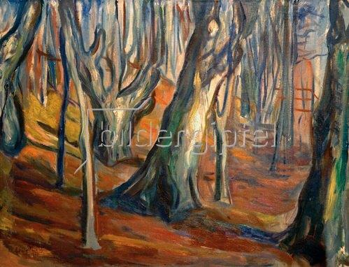 Edvard Munch: Herbst (Alte Bäume, Ekely) 1923