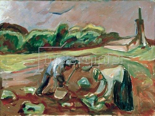 Edvard Munch: Kartoffelernte, 1924Öl auf Leinwand, 68,5 × 90,8 cm