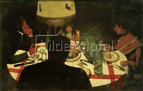 Felix Vallotton: Bei Tisch, Lichtwirkung, 1899