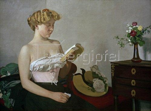 Felix Vallotton: Lesende Frau, 1906