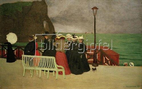 Felix Vallotton: The beach promenade in Etretat, 1899