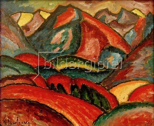 Alexej von Jawlensky: Oberstdorfer Landschaft, 1912
