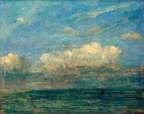James Ensor: Meer mit weisser Wolke, 1884.
