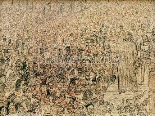James Ensor: Wundersame Fischvermehrung, 1891.