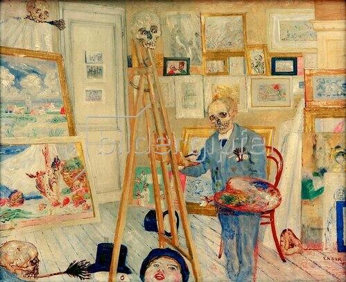 James Ensor: Das malende Skelett, 1896.