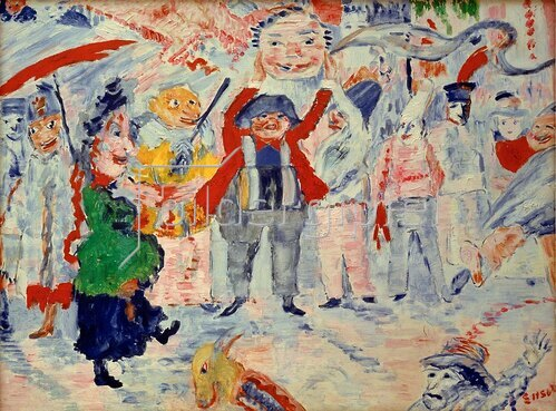 James Ensor: Karneval in Flandern, 1925-29.