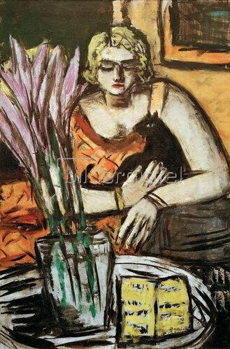 Max Beckmann: Frau mit Katze, 1942