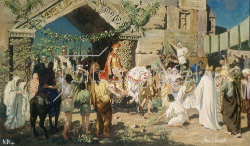 Stepan Wladislawowitsch Bakalowitsch: Alexander der Große vor den Toren von Jerusalem