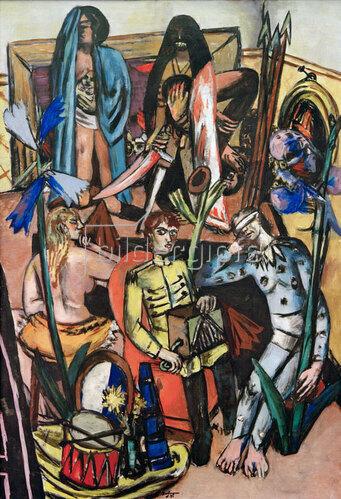 Max Beckmann: Der Leiermann (Das Lebenslied), 1935