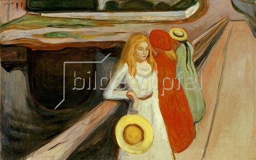 Edvard Munch: Mädchen auf der Brücke, um 1900