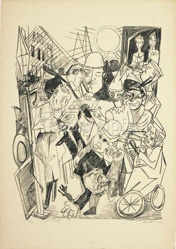 Max Beckmann: Die Straße, 1919