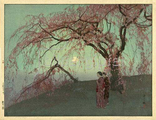 Yoshida Hiroshi: Kumoi Cherry Trees, 1926