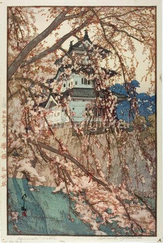 Yoshida Hiroshi: Hirosaki Castle, 1935