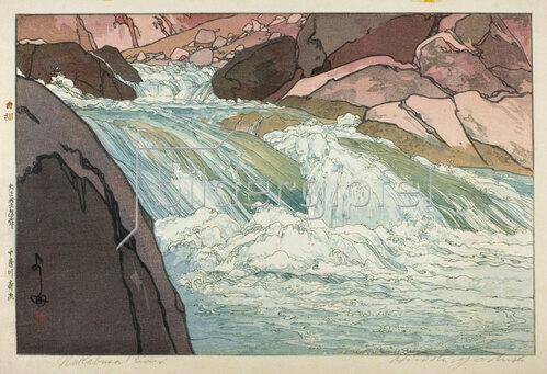 Yoshida Hiroshi: Nakabusa River Rapids, 1926