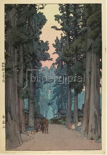 Yoshida Hiroshi: Cryptomeria Avenue, 1937