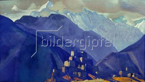 Nikolai Konstantinow Roerich: Stranghild. Kloster im Gebirge