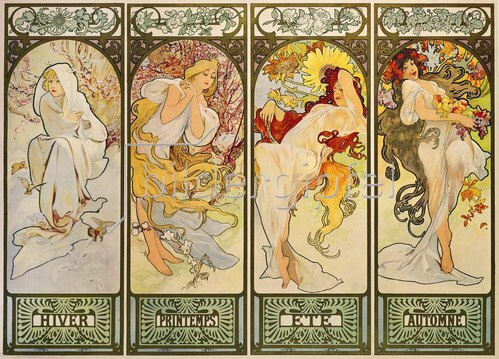 Alfons Mucha: The four Seasons