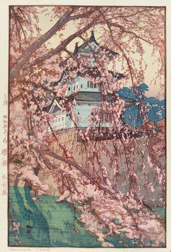 Yoshida Hiroshi: Das Schloss von Hirosaki, 1935