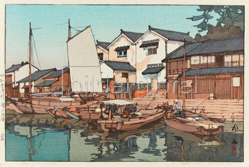 Yoshida Hiroshi: Kura in Tomonoura, 1930
