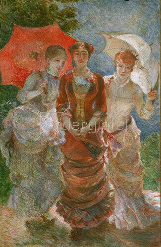 Marie Bracquemond: Les trois femmes aux ombrelles (Les trois graces de 1880)