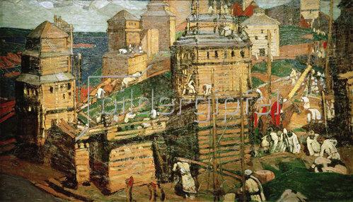 Nikolai Konstantinow Roerich: Bau einer Stadt