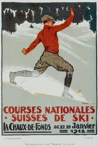 Courses nationales de ski / Plakat 1912