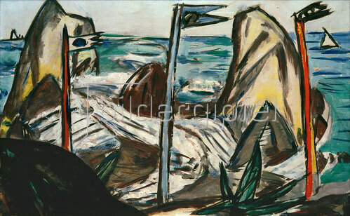 Max Beckmann: Felsen bei Bandol, 1944
