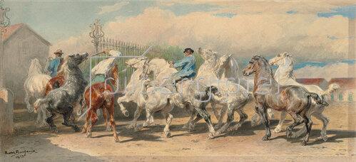 Rosa Bonheur: Rückkehr vom Pferdemarkt