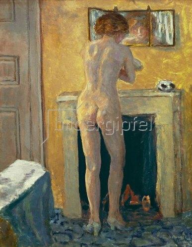 Pierre Bonnard: Akt vor dem Feuerplatz, 1919