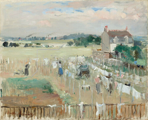 Berthe Morisot: Hanging the Laundry out to Dry, 1875.