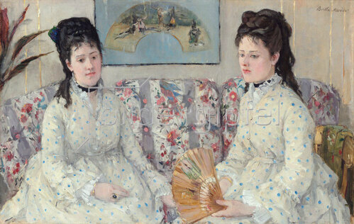 Berthe Morisot: Die Schwestern, 1869.