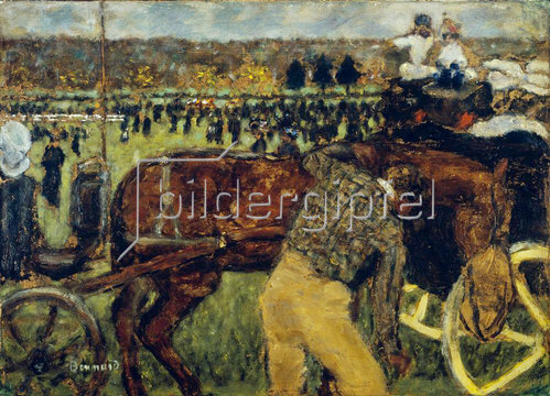 Pierre Bonnard: Pferderennen in Longchamp