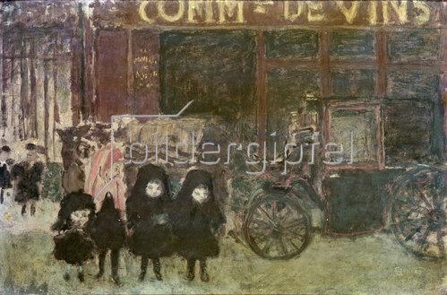 Pierre Bonnard: Die Droschke oder Die Weinhandlung oder Heimweg von der Schule