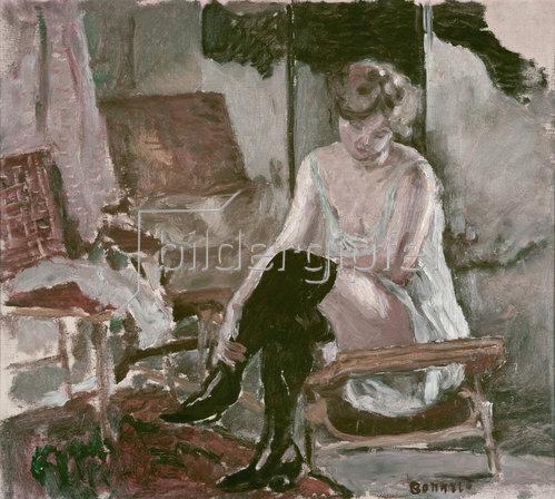 Pierre Bonnard: Studie einer jungen Frau auf ihrer Chaise-longue