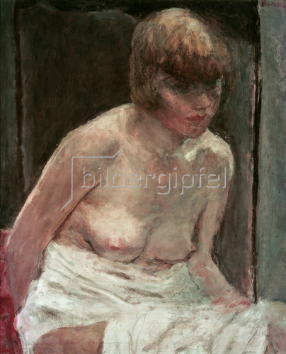 Pierre Bonnard: Junge Frau mit Morgenmantel