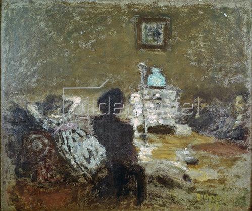 Pierre Bonnard: Unter der Lampe, Interieur