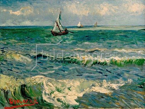 Vincent van Gogh: Das Meer bei Saintes-Maries-de-la-Mer, 1888.