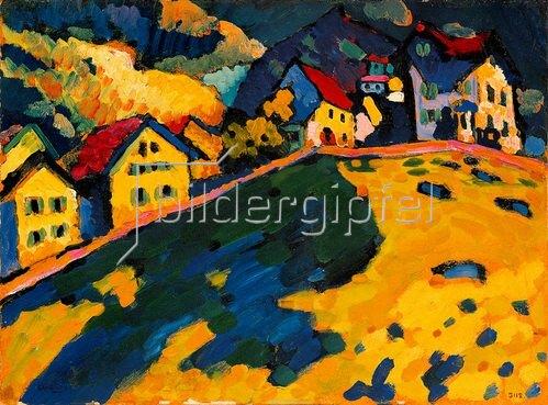 Wassily Kandinsky: Häuser am Berg, 1909