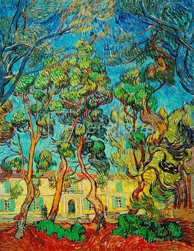 Vincent van Gogh: Hospital at Saint-Rémy, 1889.