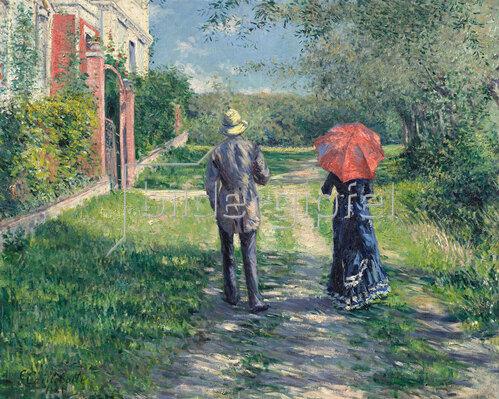 Gustave Caillebotte: Paar beim Spaziergang