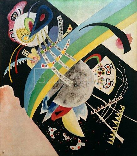 Wassily Kandinsky: Kreise auf Schwarz, 1921.
